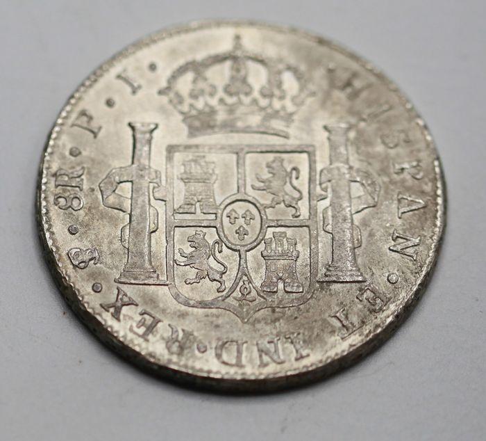 España. Carlos IV (1788-1808). 8 Reales 1807 POTOSÍ* EROSIONES MARINAS * 512