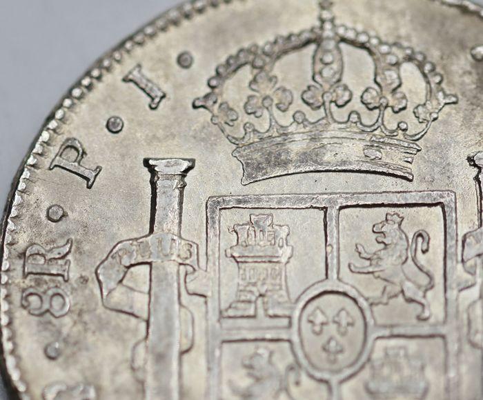 España. Carlos IV (1788-1808). 8 Reales 1807 POTOSÍ* EROSIONES MARINAS * 810