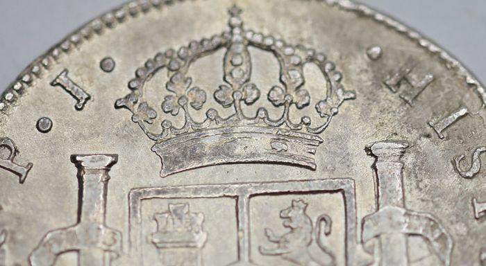 España. Carlos IV (1788-1808). 8 Reales 1807 POTOSÍ* EROSIONES MARINAS * 910