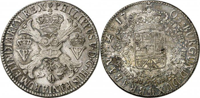 DUCATON  de Felipe V Brabante (Amberes) 1703 Aa651b10