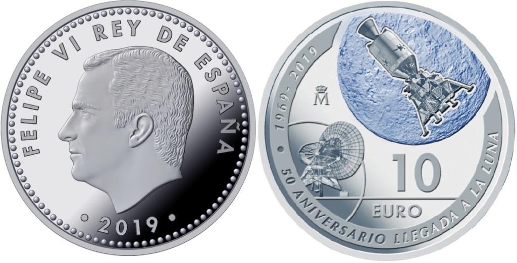 España y EEUU conmemoran en una moneda de 2019 la llegada a la luna Anv_8r10