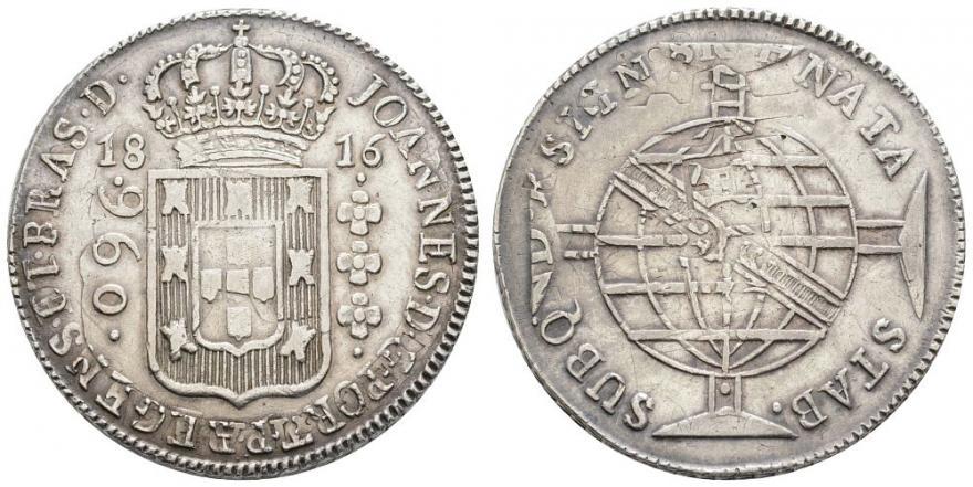960 reis 1816 Río de Janeiro (R) - Juan, Príncipe Regente - Brasil Brasil10