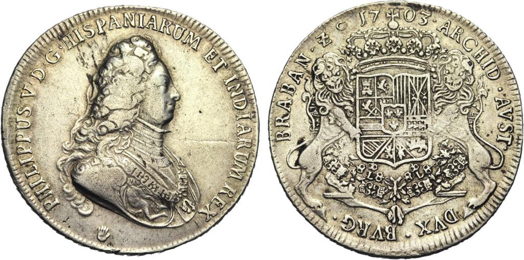 DUCATON  de Felipe V Brabante (Amberes) 1703 Dos10
