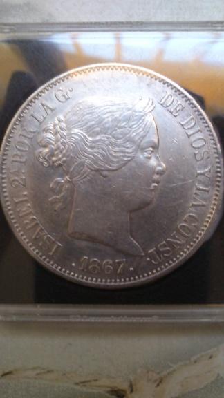 2 escudos 1867. Isabel II. Madrid Dsc_0041