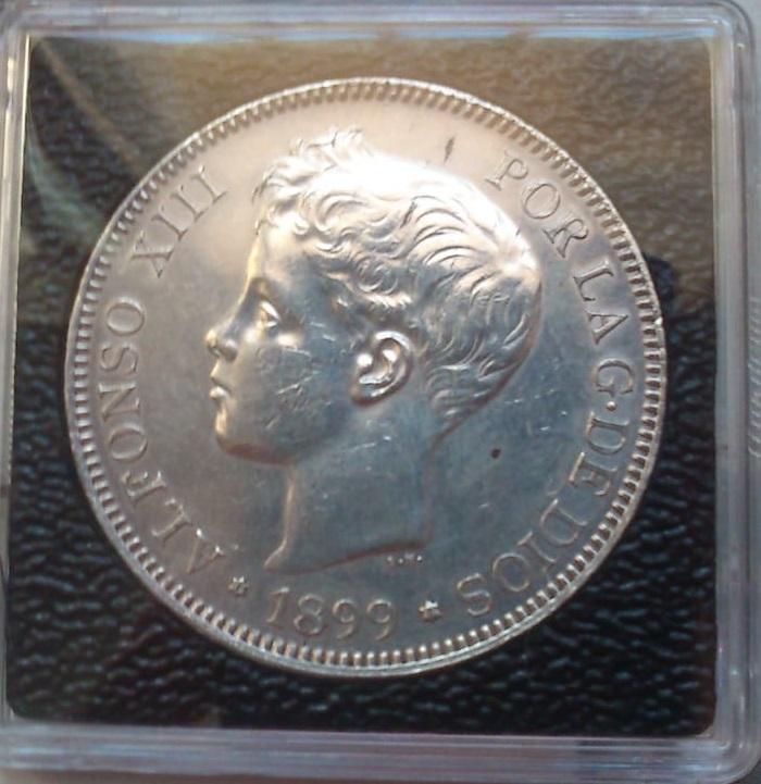5 pesetas 1899 (*18- 99). Alfonso XIII Duro_a10
