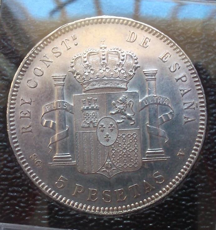 5 pesetas 1899 (*18- 99). Alfonso XIII Duro_r10