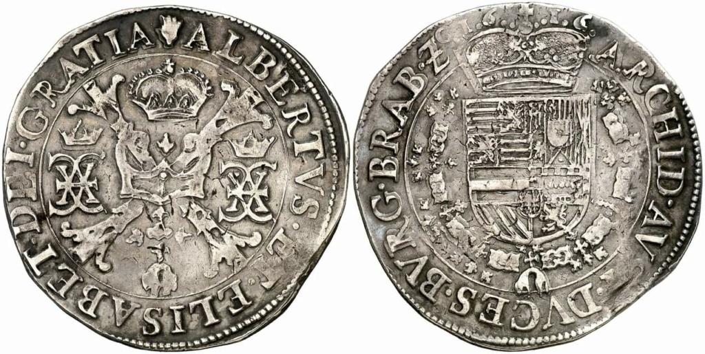 Patagón de los Archiduques Alberto e Isabel, ceca de Amberes (1616).   Fb_img18