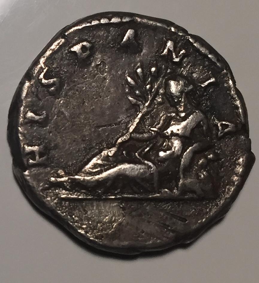 Denario de Adriano. HISPANIA. Hispania recostada a izq. (conejo detrás). Roma. Fullsi11