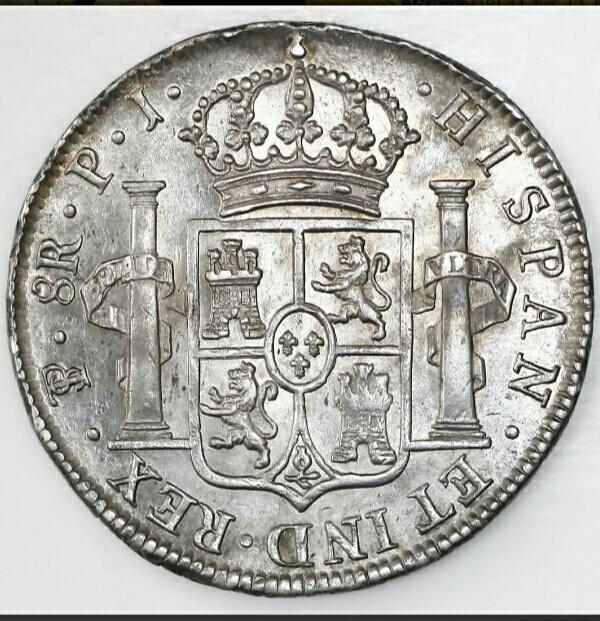 8 reales 1824. Fernando VII. Potosí Img_2011