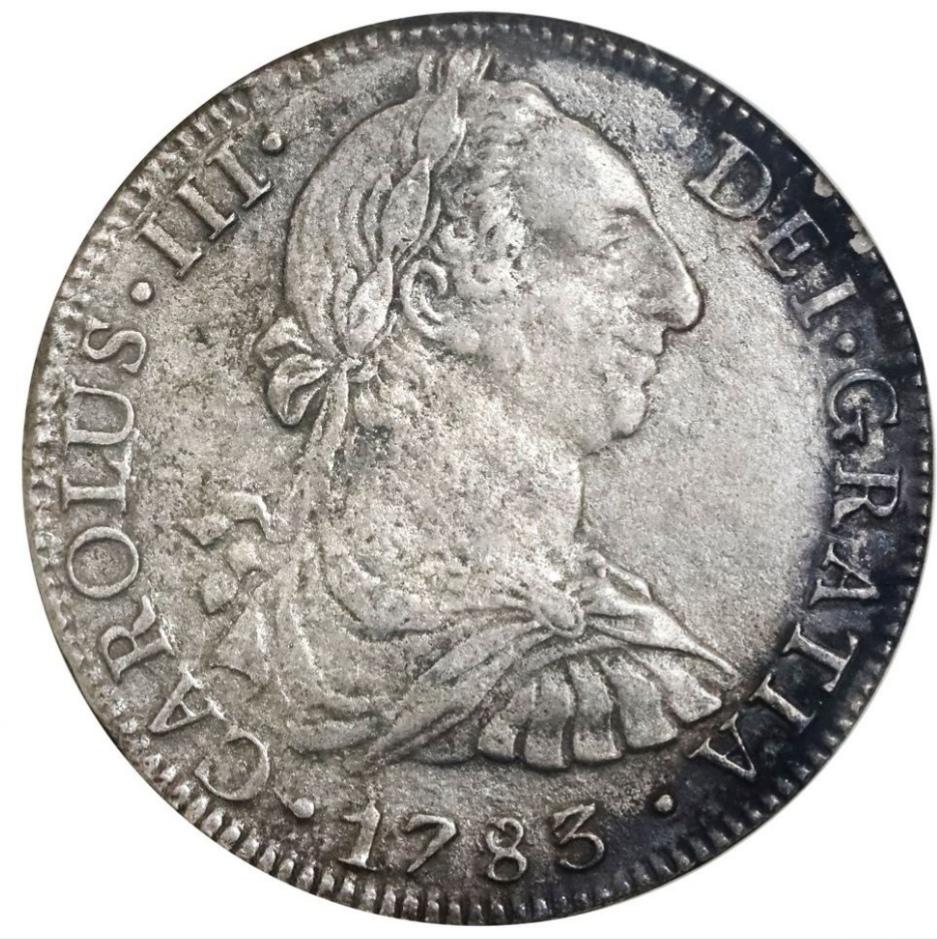 8 REALES CARLOS III CECA DE MÉXICO 1783 PECIO EL CAZADOR.  Img_2019