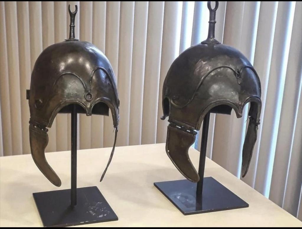La familia de un coleccionista fallecido entrega al Museo de Zaragoza un casco de Aranda de Moncayo Img_2023