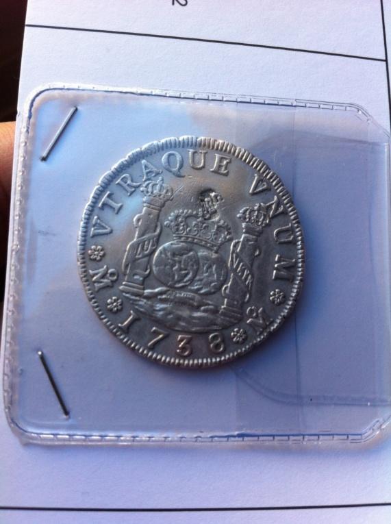 4 reales (medio duro) de 1738. Felipe V, ceca de Mexico MF La_fot11
