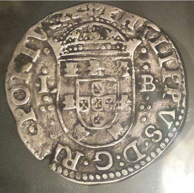 Tostão de Felipe II de Portugal (III de España). La_fot13