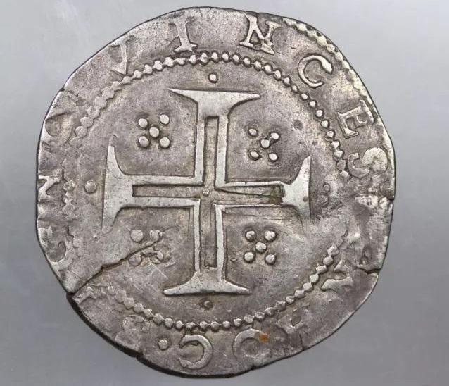 Tostao (100 reis). Felipe III de España (II de Portugal). Lisboa La_fot14