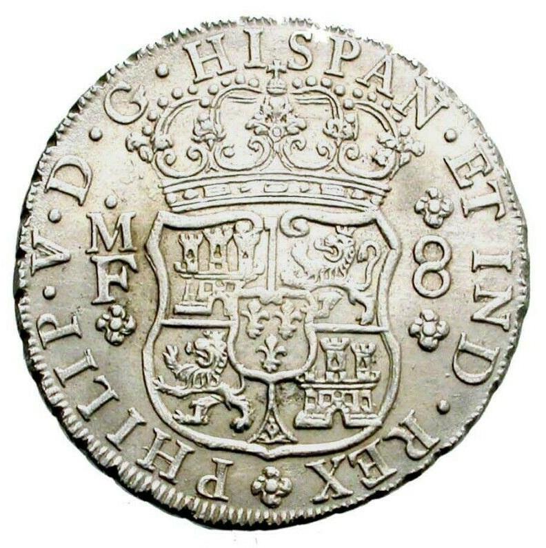 8 REALES TIPO COLUMNARIO FELIPE V CECA DE MEXICO 1736 ENSAYADORES MF Revers12