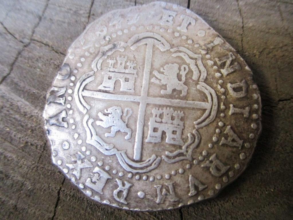 Spanish Colonial Potosí Bolivia SIlver 8 Reales Cob Coin Felipe IIII 1643 S-l16013