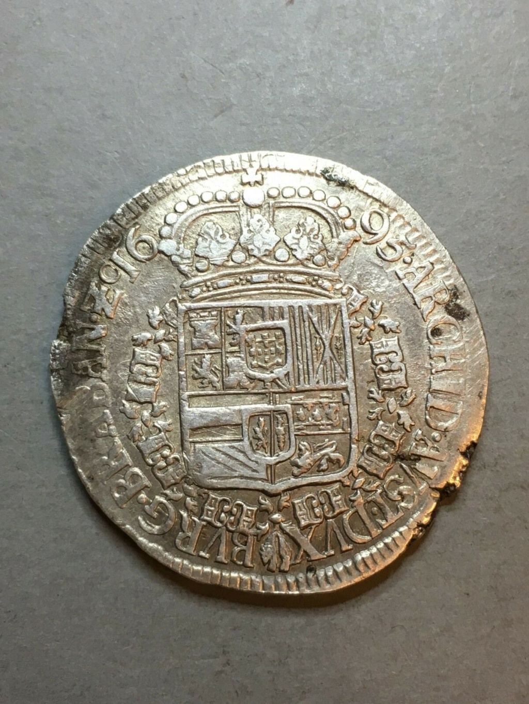 Patagón Carlos II 1695,ceca  Amberes de Brabante S-l16021