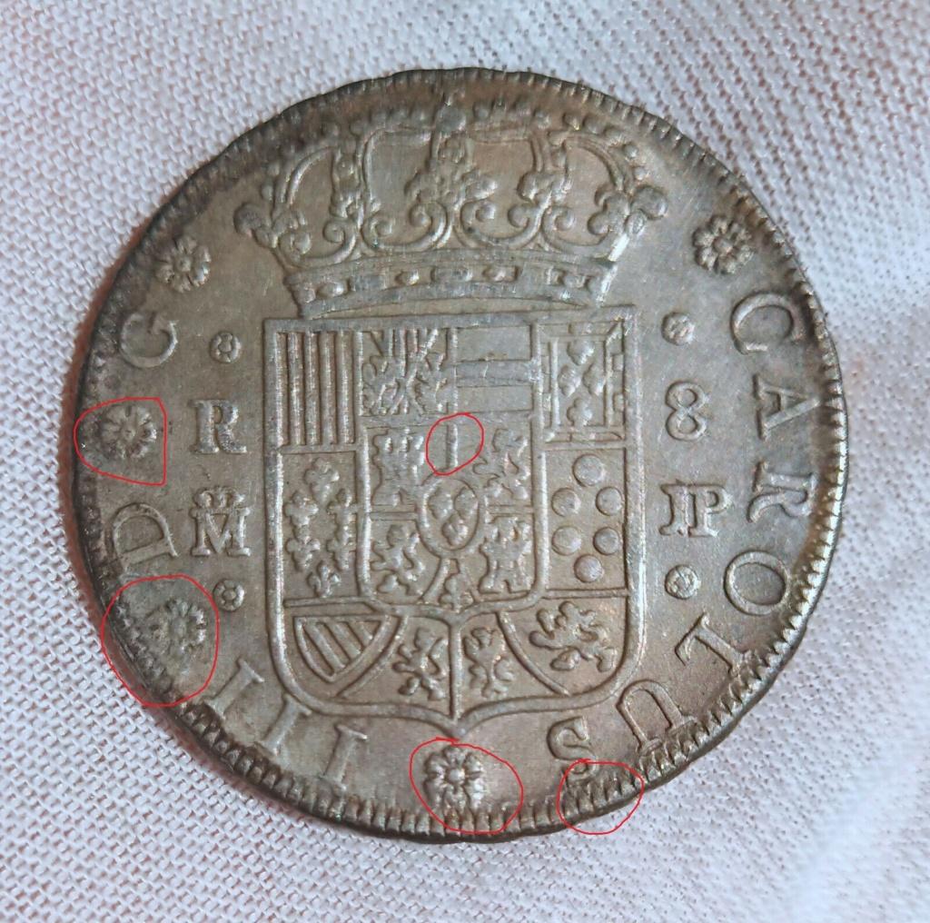 OTRO CLON DE 8 REALES CARLOS III 1762 MADRID S-l16044
