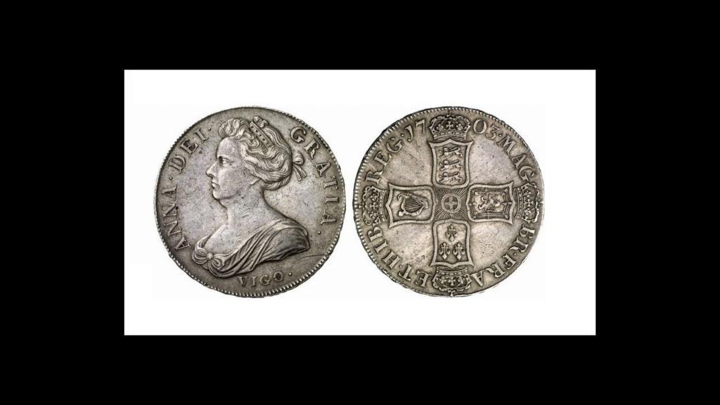 Dos monedas británicas de Vigo de 1703 salen a subasta por casi un millón de euros Vg19c710