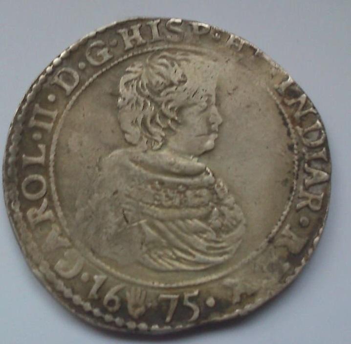 Ducatón 1675. Carlos II. Amberes Whatsa21
