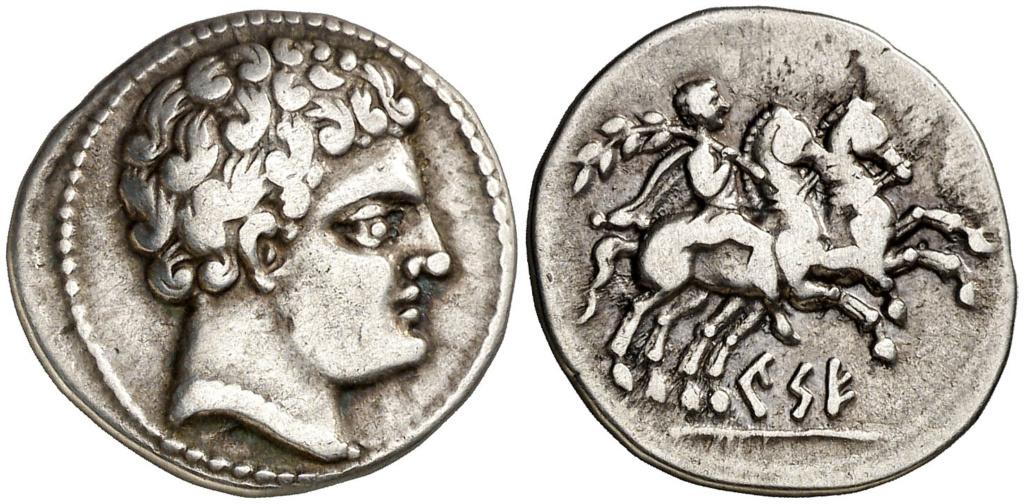 Morgantina, la primera moneda en la que aparece la alusión a Hispania - Página 2 Denari14