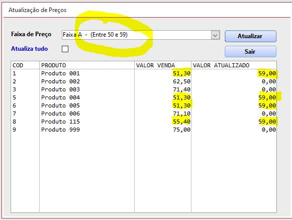 Consulta SQL para Atualizar Preços Atuali14