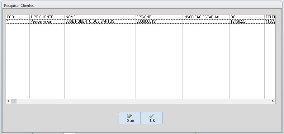 [Resolvido]Exibir registro utilizando Select Cadcli13