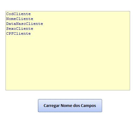 Como obter os nomes de campos de uma tabela via código Campos10