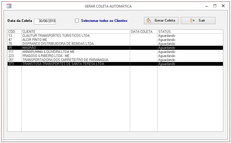 [Resolvido]Criar registro automático Coleta10
