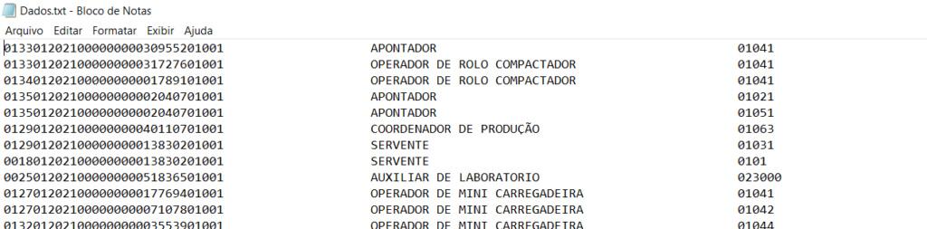 [Resolvido]Exportar TXT com dados na mesma linha Dados11