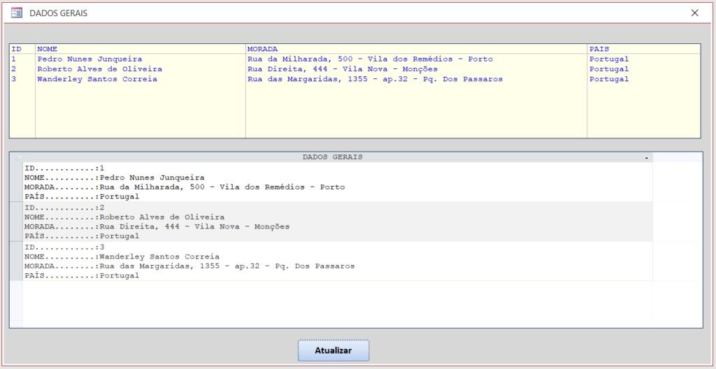 [Resolvido] Visualizar um registo inteiro tipo Listagem Dadosg10