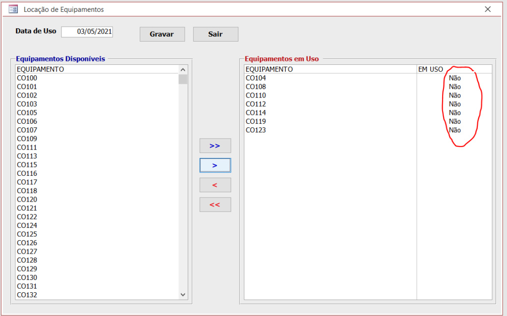 [Resolvido]Lançamentos Utilizando Caixa de Listagem Multipla Equip210