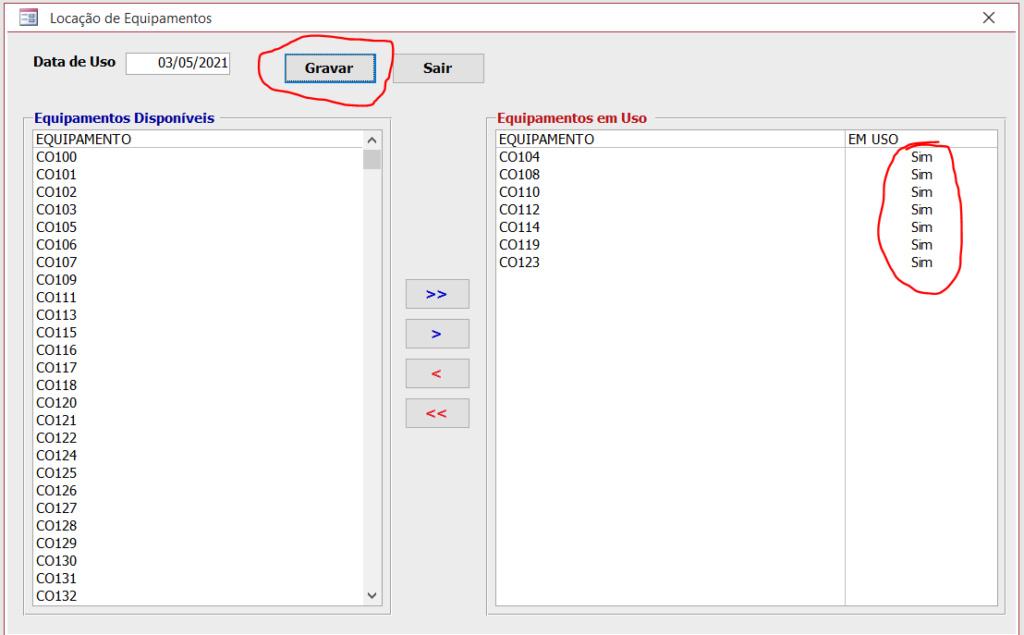 [Resolvido]Lançamentos Utilizando Caixa de Listagem Multipla Equip310