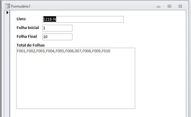 [Resolvido]Executaloop em um registro e adicionar valor em mais de um campo Folhas10