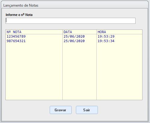 Salvar dados e mostrar último valor Lcto110