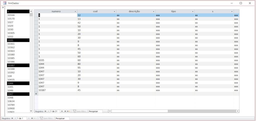 [Resolvido]Aplicar filtro ao abrir uma tabela de consulta Multis10