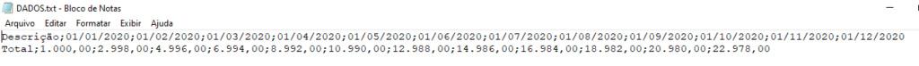 [Resolvido]Gerar arquivo em TXT Tab_da12