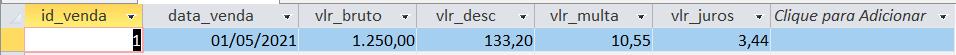 [Resolvido]Campo calculado no SQL Tabela10