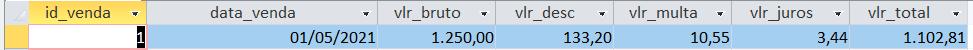 [Resolvido]Campo calculado no SQL Tabela11