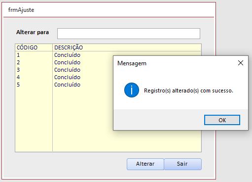 [Resolvido]Alterar Registros da tabela Upd00210