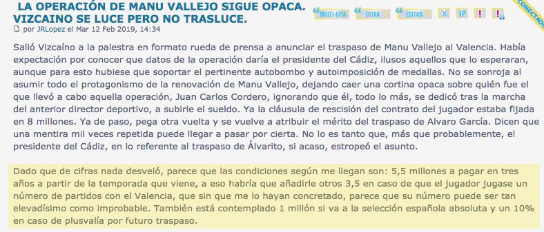 """Las """"primicias"""" tardías de Línea 6 Vallej12"""