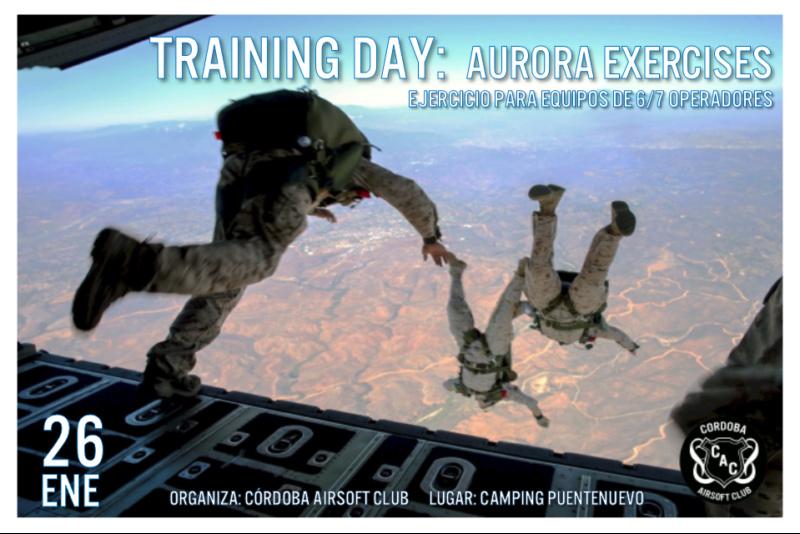 GUIÓN TRANING DAY: AURORA EX.  Camping Puentenuevo.  Domingo 26 de enero Imagen20
