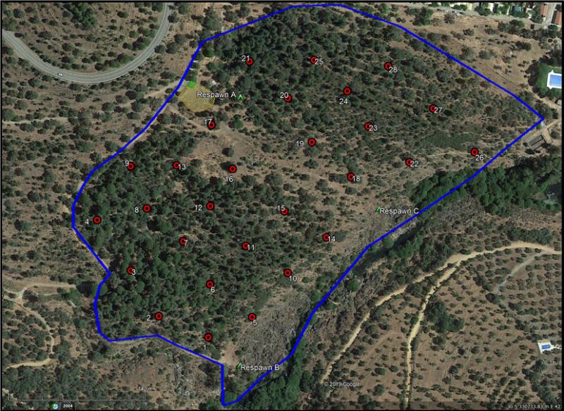 GUIÓN TRANING DAY: AURORA EX.  Camping Puentenuevo.  Domingo 26 de enero Mapa_j13