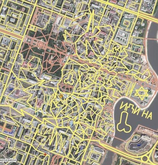 Уровни вандализма на карте D10