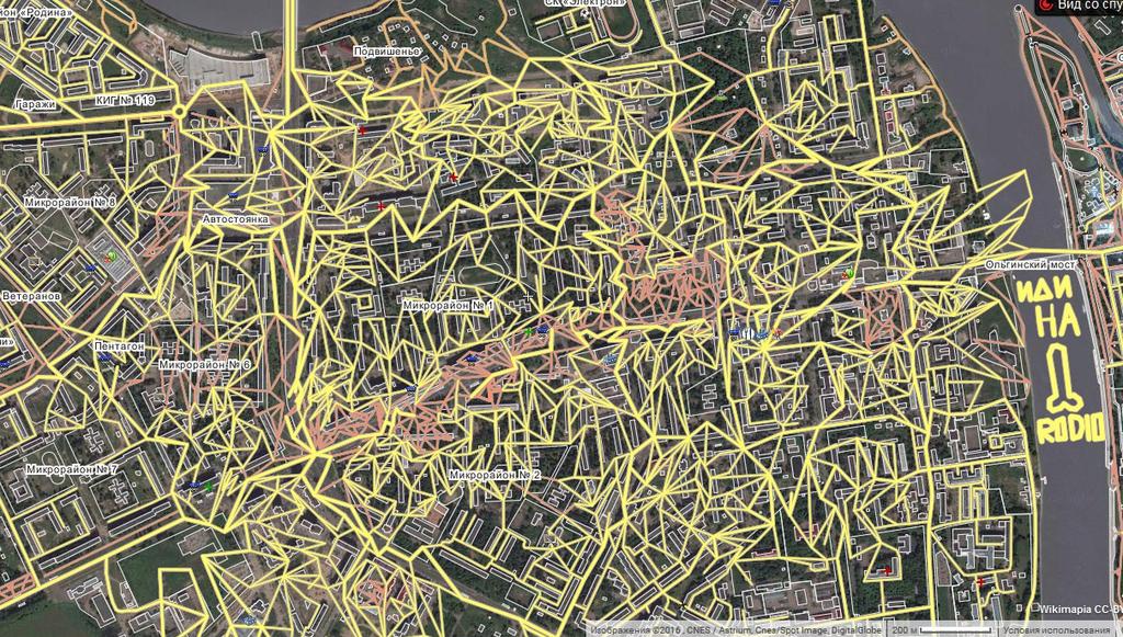 Уровни вандализма на карте Dd10