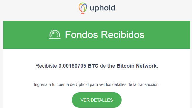 otro pago de nueva ptc que paga en Bitcoin 0.00180705 BTC Uphold10