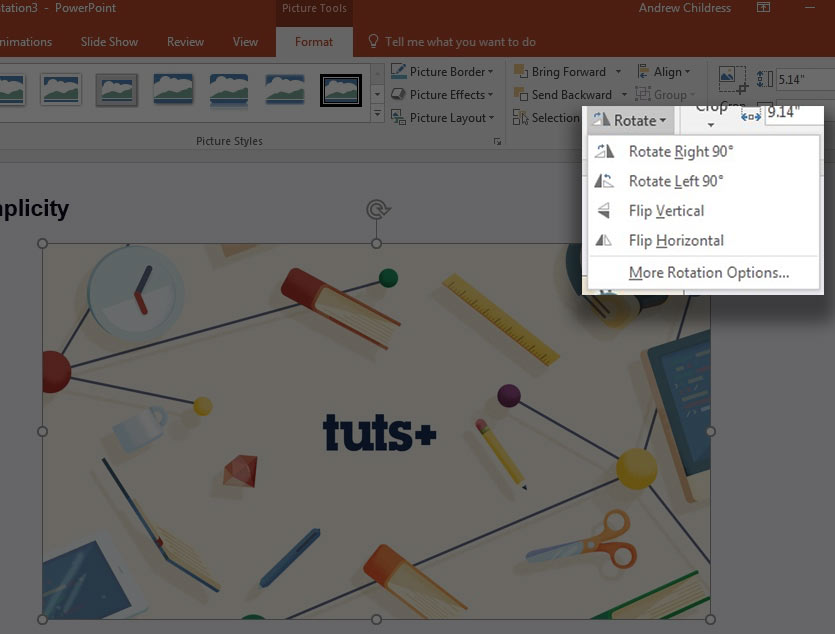 How to Rotate an Image in PowerPoint 410