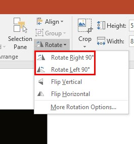How to Rotate an Image in PowerPoint 510