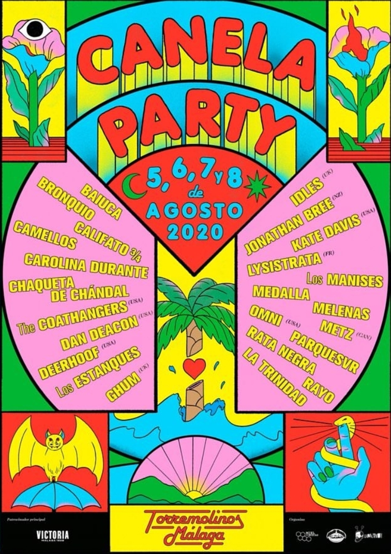 CANELA PARTY 2020 - Metz, Carolina Durante, Camellos, Omni, Dan Deacon, Medalla... (Málaga, 5-8 Agosto) Whatsa13