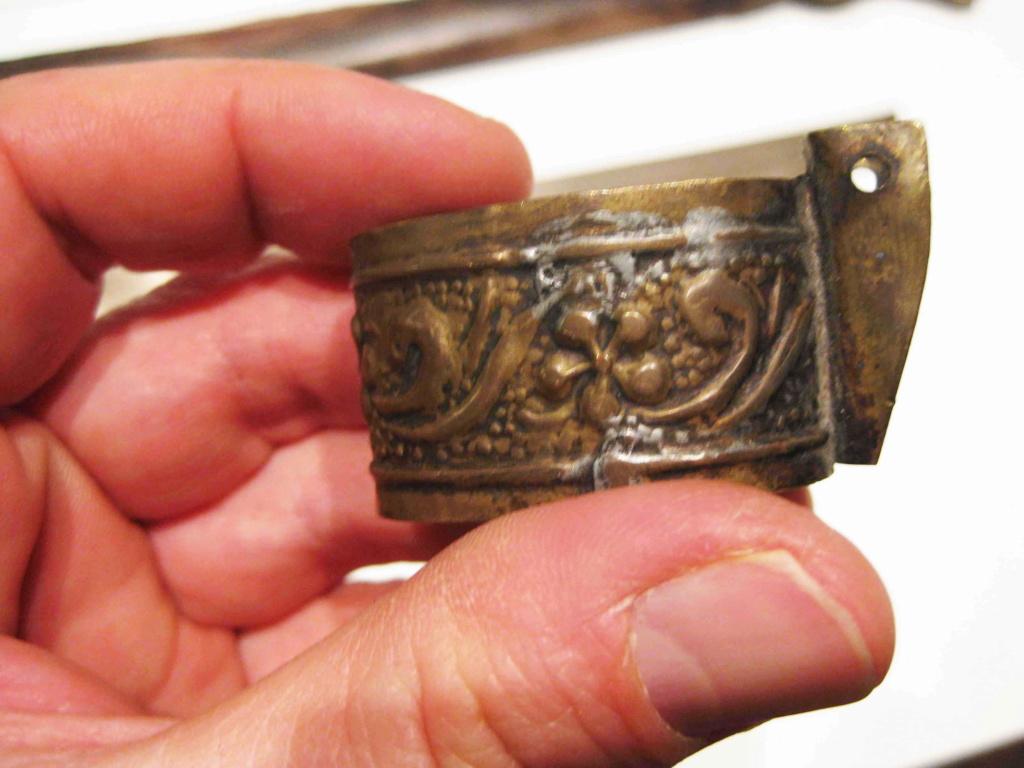sabre chinois, roue dans le dard de la bouterolle Katana25
